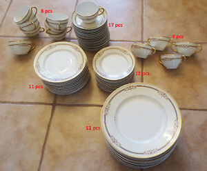 63 pieces, old dinnerware set