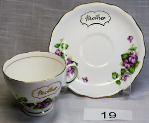 For Sale. Vintage Bone China Cups and Saucers 3