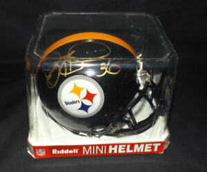 Jerome Bettis Pittsburgh Steelers NFL HOF Signed Mini-Helmet