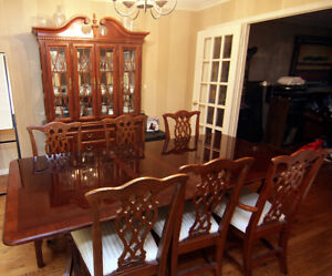 Solid Cherry Wood Dining Room Set