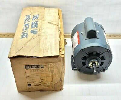 New Westinghouse 13 Hp Electric Motor 115230 Vac 1 Phase B56 1425 Rpm 327p412