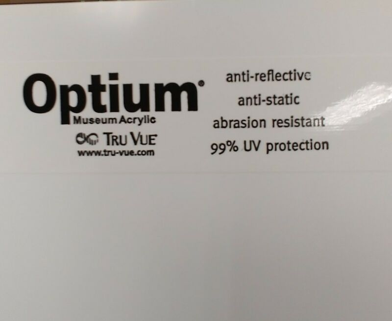 Optium Museum acrylic plexiglass UV protection 20 x 24
