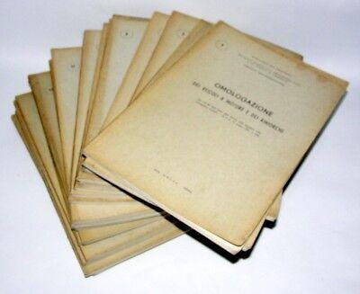 OMOLOGAZIONE DEI VEICOLI A MOTORE E DEI RIMORCHI 21 FASCICOLI 1962-64  (2210)