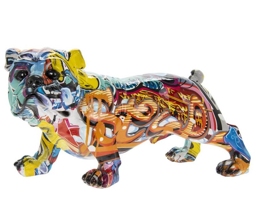 Leonardo Collection Small Graffiti Art Standing British Bulldog Figure Ornament