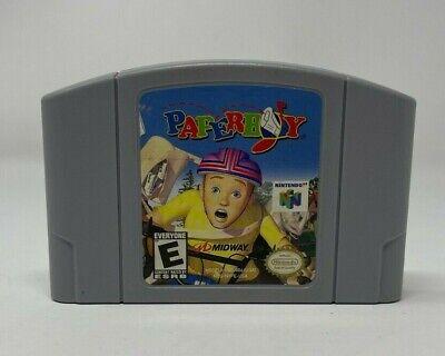 Nintendo N64 Paperboy Game Cartridge Video Game
