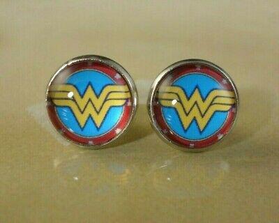 WONDER WOMAN I 12mm silver stud earrings for women (Wonder Woman Stud Earrings)