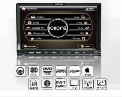 "Double Din Car DVD GPS Bluetooth IOKONE 7"" LCD St Kilda Port Phillip Preview"