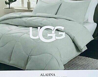 "UGG Alahna ""Rain Drop"" KING SIZE COMFORTER SET All Season Cooling Technology NEW"