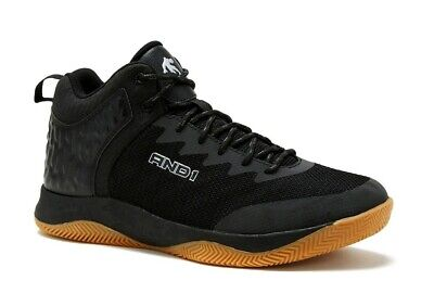 AND1 Men's Black Lace-up High Top Athletic Sneakers Shoes: 7-13