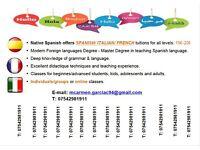 Native Spanish teacher MFL offers Languages Classes- SPANISH / ITALIAN / FRENCH