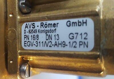 Avs-romer Egv-311v2-ah9-12 Pn Solenoid Valve Dn13 Brass Epdm 168 W Guage R3