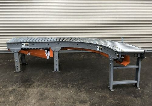 "Xenrol 16"" x 90 Degree Curve Line Shaft Roller Conveyor"