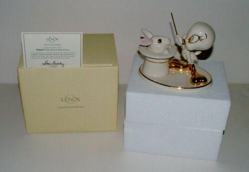 "LENOX CHINA TWEETY FIGURINE W/COA IN ORIGINAL BOX - ""TWEETY THE LITTLE MAGICIAN"""