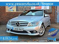 """""FINANCE AVAILABLE""""2009 (09) Mercedes C220 CDI Sport Auto, 3 Months RAC warranty & 1 Year MOT"