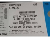x2 A Day To Remember Tickets - Leeds