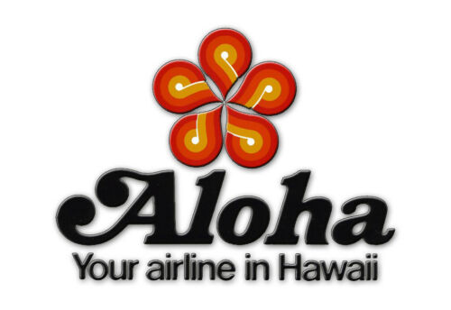 "Aloha Airlines Logo 3.25""x2.25"" Collectibles Fridge Magnet (LM14001)"