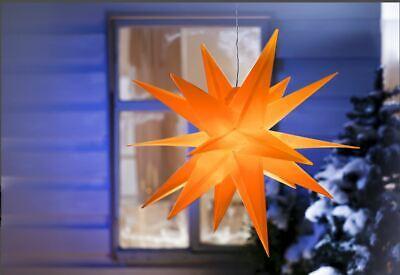 LED-Außenstern Weihnachten Orange Design-Stern Ø56 cm Batteriebetrieb wetterfest ()
