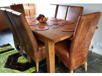 8 Real Leather Tan high quality chairs - £350 each new