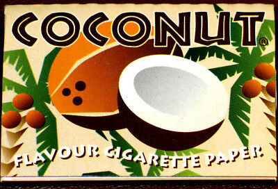 Vintage Collector Cigarette Rolling Paper COCONUT 33 Leaves Flavour 1/2 Extra