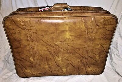 - American Tourister Brown Luggage Soft Leather 28 1/4