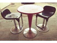 Cafe style gas adjustable table and chairs