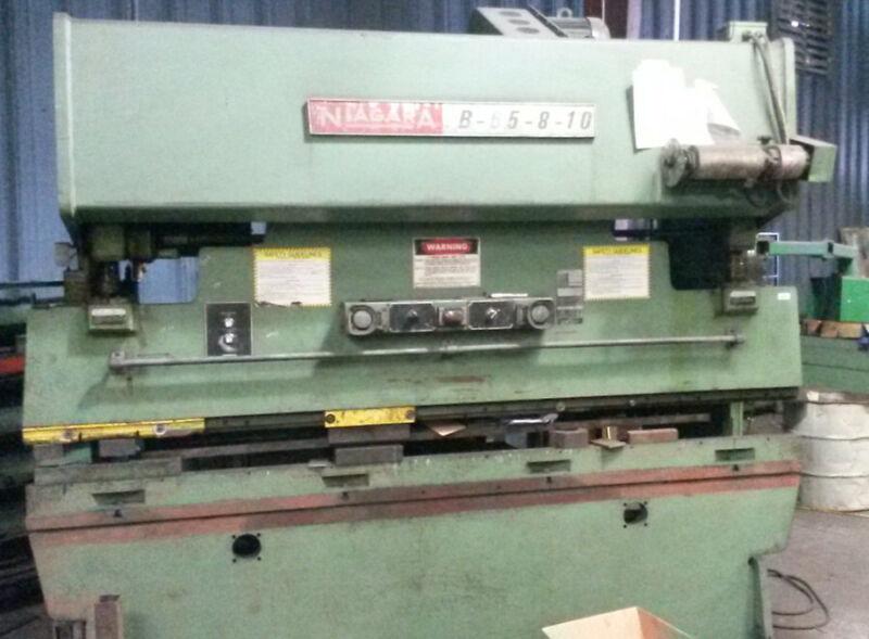 Niagara 100 ton Mechanical Press Brake with HURCO autobend back gage