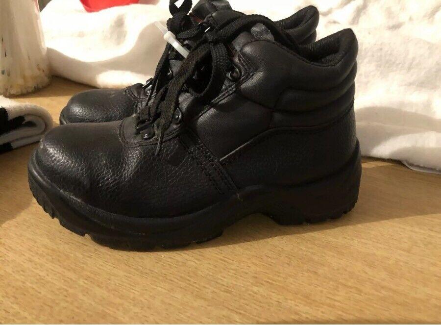 Blackrock Ultimate Work Boots Safety Steel Toe Caps Black Leather Size 4