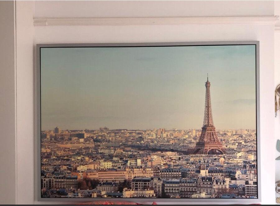 Paris canvas with silver frane