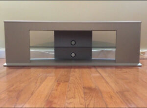 Tv stand with glass shelf