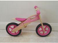 Bigjigs 'My First Balance Bike' pink