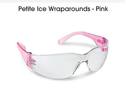 NEW 10 Pairs Pink Safety Glasses Uline Petite Ice Wraparounds. For Smaller (Glasses For Petite Faces)