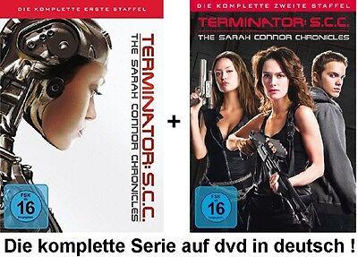 Terminator SCC Season I+II- The Sarah Connor Chronicles Staffeln 1+2 dvd Set neu
