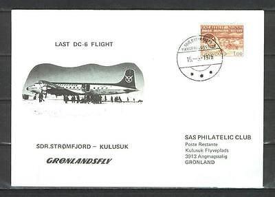 First Flight Cover G21 SAS 1978 Sdr. Stromfjord - Kulusuk
