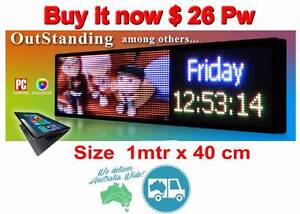 LED-SIGN-100cmx40cm PROGRAMMABLE- scrolling message Labrador Gold Coast City Preview