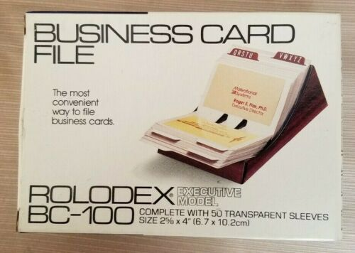 Rolodex Executive Model BC-100 Business Card File Holder (Holds 100 Cards)