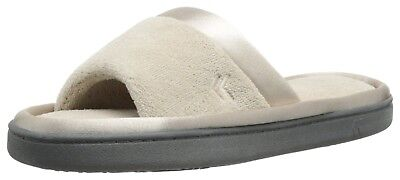 ISOTONER Feet Women's Satin Trim Microterry Slide Slippers