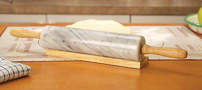 Fox Run Marble Rolling Pin and Base , New, Free Shipping - Free Marble
