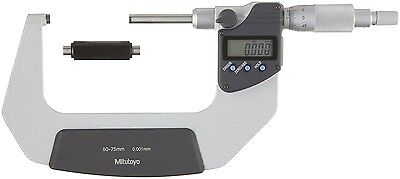 Mitutoyo Digital Lcd Outside Micrometer 50-75mm 0.001mm Non-rotating Spindle