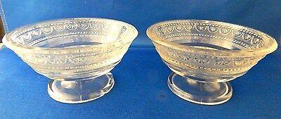 Vintage Clear Depression Glass Footed Sherbets - Set of 2