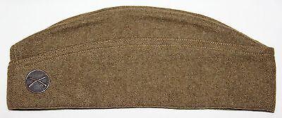 NICE WWI 1918 DATED SIZE 7 1/8 OVERSEAS GARRISON CAP W/ INFANTRY DISK