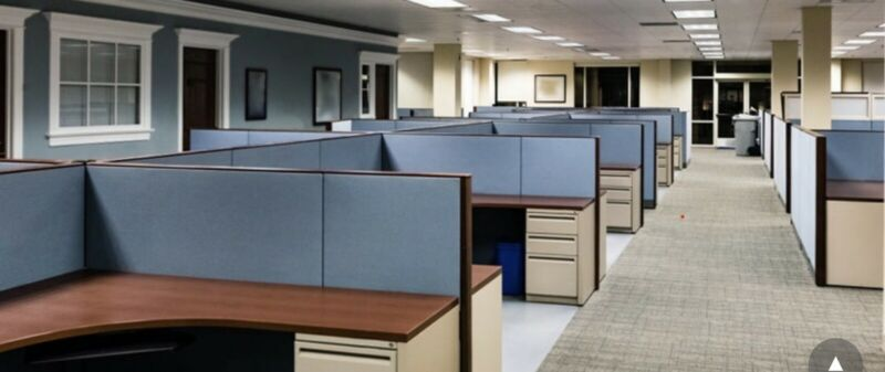 Office Cubicles Set 10x with Panels Partitions Desks Cabinets Wires n more