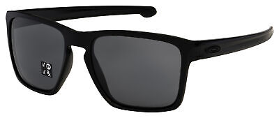 Oakley Sliver XL Sunglasses OO9341-0157 Matte Black | Grey Polarized (Oakley Sunglasses Lenses Polarized)