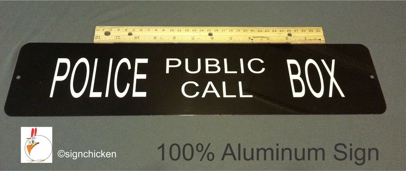 Doctor Who TARDIS Police Box  *EMBOSSED* Sign, new , tardis, dr. who collectible