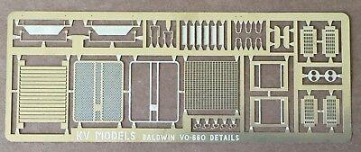 ETCHED DETAIL SET FOR BALDWIN VO-660 LOCOMOTIVE HO SCALE KV MODELS KV-902H