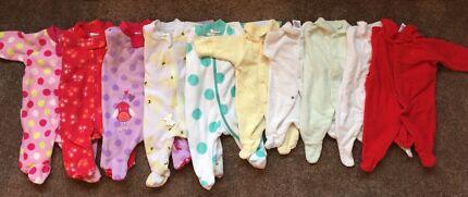 Baby girl onesies - newborn to 12 months