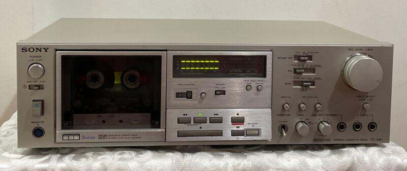 SONY TC-K81 stereo cassette deck 3-head