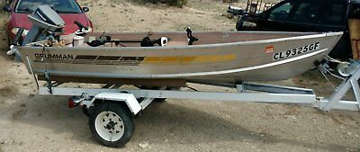 Aluminum v-bottom boat with trailer