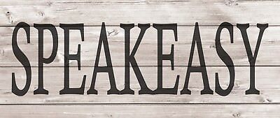 SPEAKEASY Metal Sign Wood Look Rustic Wall Decor Retro Man cave 5x12 SS54