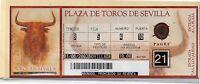 Tauromaquia Entrada Plaza De Toros De Sevilla Año 2003 (df-819) -  - ebay.es