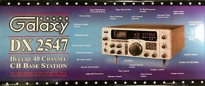 Galaxy DX2547 CB Base Radio AM Single Side Band (SSB) use at home or in car NEW for sale  Shipping to Canada